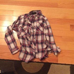 a plaid shirt
